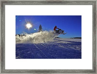 Snowy Launch Framed Print