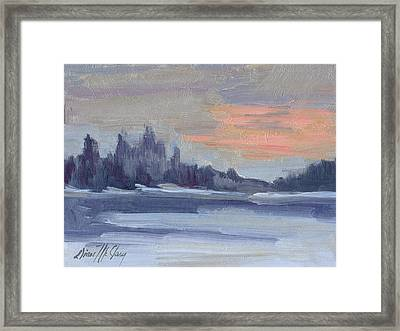 Snowy Morning At Martha Lake Framed Print by Diane McClary