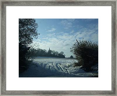 Framed Print featuring the photograph Snowy Morning by Jean Walker