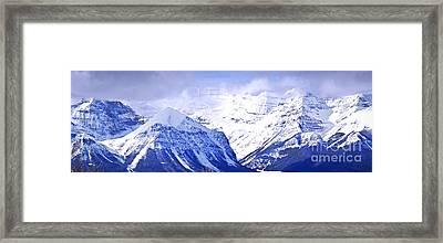 Snowy Mountains Framed Print by Elena Elisseeva