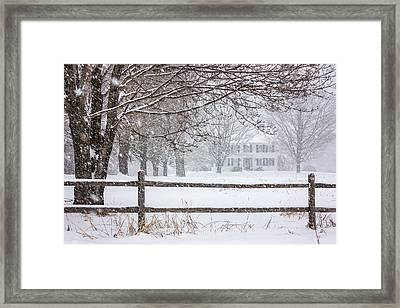 Snowy New England Framed Print