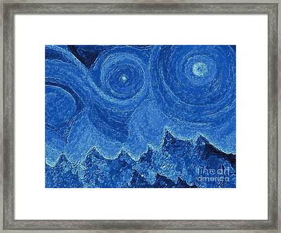Snowy  Night By Jrr  Framed Print by First Star Art