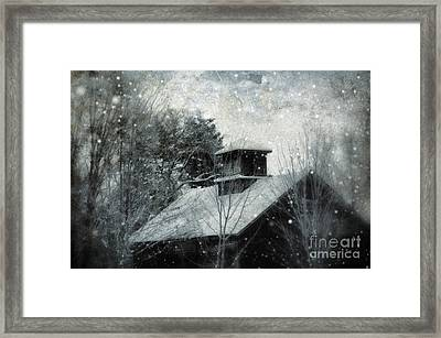 Snowy Night Framed Print by HD Connelly