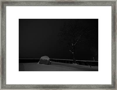 Snowy Night Framed Print by Mike Horvath