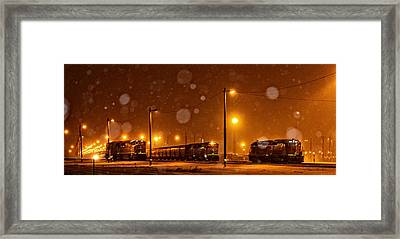 Snowy Night Framed Print by Sylvia Thornton