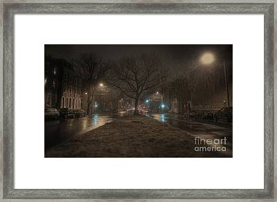 Snowy Nights Framed Print by Kenny  Noddin