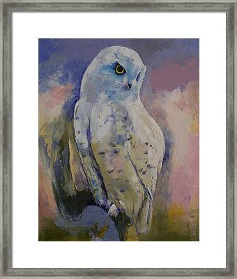 Snowy Owl Framed Print by Michael Creese
