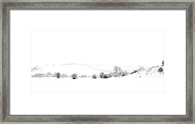 Framed Print featuring the photograph Snowy Panorama by Liz Leyden