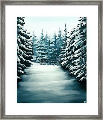 Snowy Path Framed Print by Erin Scott