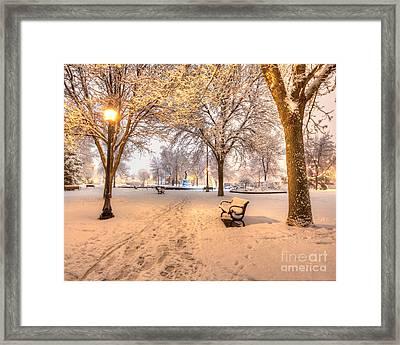 Snowy Path To Wenonah Framed Print
