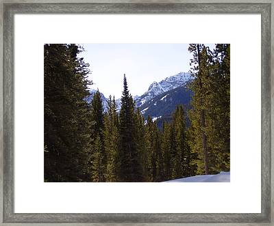 Snowy Peaks Framed Print by Yvette Pichette