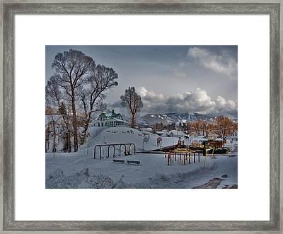 Snowy Playground Framed Print