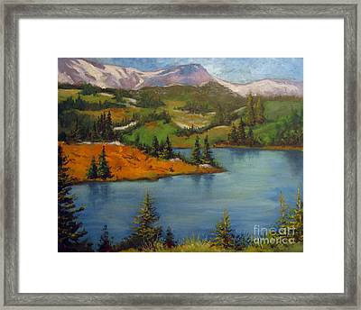 Framed Print featuring the painting Snowy Range by Carol Hart