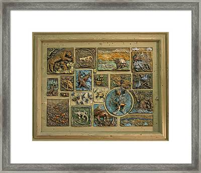 Framed Print featuring the sculpture Snowy Range Life - Large Panel by Dawn Senior-Trask