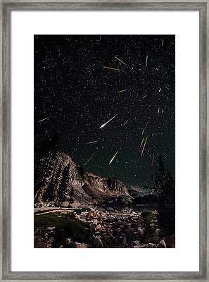 Snowy Range Perseids Meteor Shower Framed Print