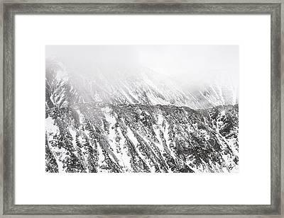 Snowy Ridge Abstract Framed Print