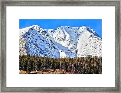 Snowy Ridge Framed Print