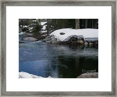 Framed Print featuring the photograph Snowy River Bend by Bobbee Rickard
