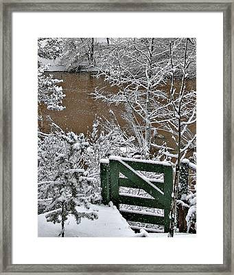 Snowy River Gate Framed Print