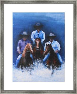 Snowy River Framed Print by Jane  See