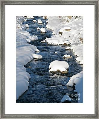 Snowy River View Framed Print by Kiril Stanchev