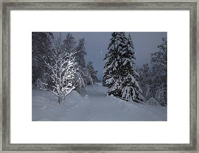 Snowy Road Framed Print by Ulrich Kunst And Bettina Scheidulin