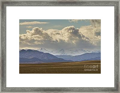 Snowy Rocky Mountains County View Framed Print