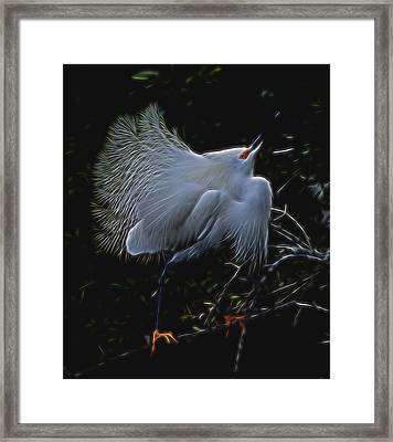 Framed Print featuring the digital art Wild Light 1 by William Horden