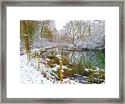 Snowy Rookwood Framed Print by Andrew Middleton