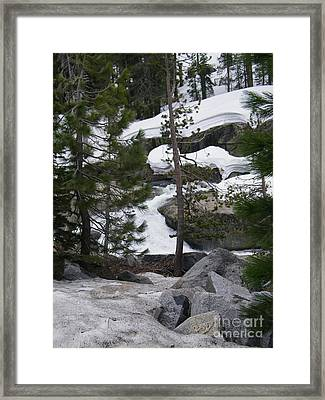 Framed Print featuring the photograph Snowy Sierras by Bobbee Rickard