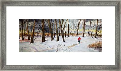 Snowy Single Track  Framed Print