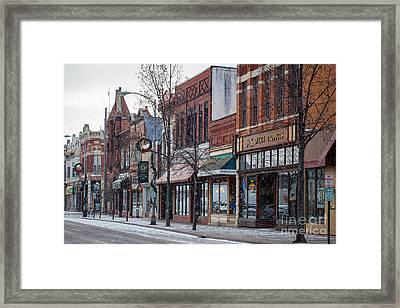 Snowy Third Street Downtown Winona IIi Framed Print