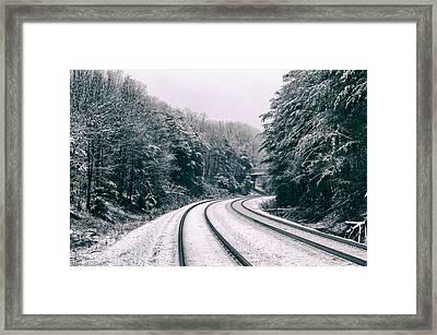 Snowy Travel Framed Print
