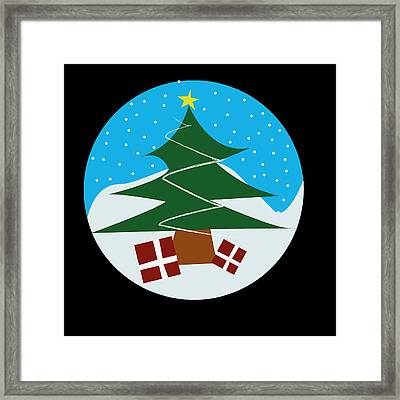 Snowy Tree Framed Print by Kenneth Feliciano