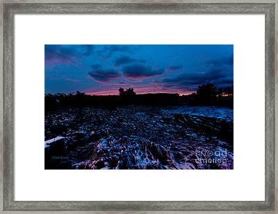 Snowy Twilight Framed Print by Michelle Wiarda