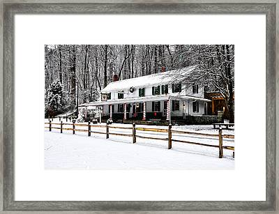 Snowy Valley Green Framed Print by Bill Cannon