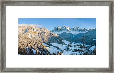 Snowy Valley In Winter, St. Magdalena Framed Print by Panoramic Images