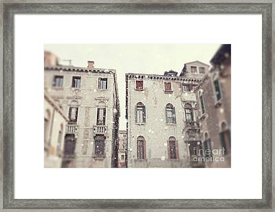 Snowy Venice I Framed Print by Erin Johnson