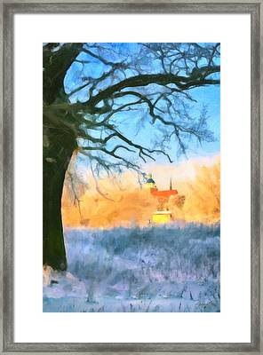 Snowy View Framed Print by Gynt