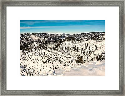 Snowy View Framed Print by Robert Bales