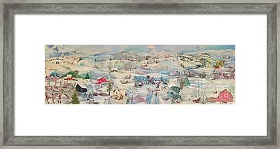 Snowy Village - Sold Framed Print