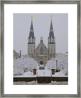 Snowy Villanova University Framed Print