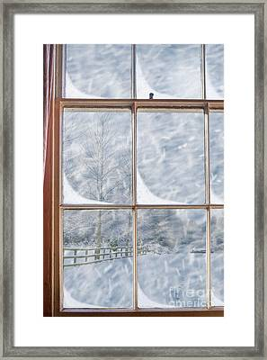 Snowy Window Framed Print