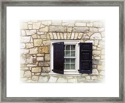 Snowy Window Framed Print