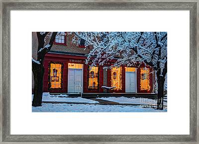 Snowy Winter Smoot Hall Brigham Young Academy Framed Print by Gary Whitton