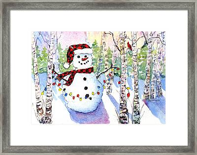 Snowy Wishes Framed Print