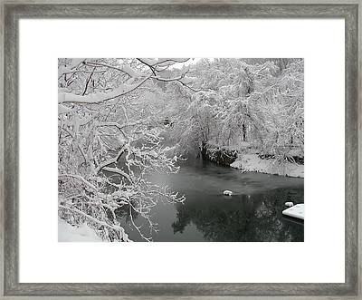 Snowy Wissahickon Creek Framed Print by Bill Cannon