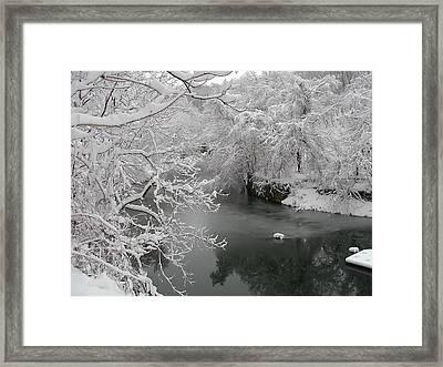 Snowy Wissahickon Creek Framed Print by Bill Cannon