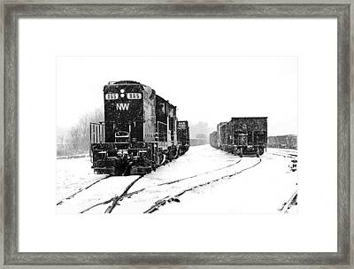 Framed Print featuring the photograph Snowy Yard by Mike Flynn