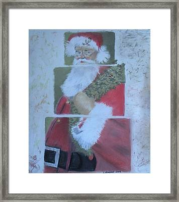 S'nta Claus Framed Print by Claudia Goodell